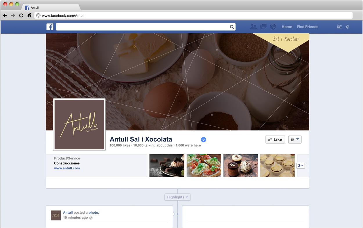 Aplicación gráfica Antull para red social Facebook